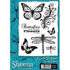 A Little Bit Scenic FLYING COLOURS Rubber Stamp Sheet By Sheena Douglass