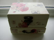 Cream and Pink and Black Jewelry Box NEW