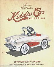 Hallmark 2015 1958 Chevrolet Corvette  Kiddie Car Classics Christmas Ornament