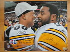 JEROME BETTIS+HINES WARD HAND SIGNED 16x20 PHOTO STEELERS SUPER BOWL POSE