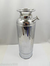 """Vintage """"Thirst"""" Fire Extinguisher Musical Chrome Cocktail Shaker 11 1/2"""" Tall"""