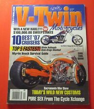 V-TWIN MOTORCYCLES MAGAZINE APRIL/2007...10 BEST 2007 CRUISERS..COOL TOOL GUIDE