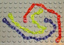 Lego Trans-Neon Green, Purple, Orange Chain 21 Links (30104) 3 pieces NEW!!!