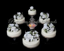 6 TIER CASCADE WEDDING CAKE STAND W/FOUNTAIN  (STYLE R602)