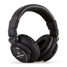 CASQUE AUDIO PLIABLE AUNA ARCEAU INOX REGLABLE ECOUTEUR DJ STUDIO MP3 iPOD NOIR