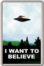 THE X-FILES I WANT TO BELIEVE FRIDGE MAGNET IMAN NEVERA