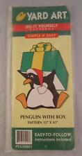 Yard Art Do It Yourself Pattern Christmas Penguin with Gift box Woodworking NEW