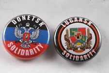 "Ukraine Russia Lugansk Donetsk Peoples Republic Solidarity  1"" Button Badge Pin"