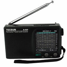 TECSUN R-909 FM/AM/SW World Band Receiver Portable Radio DX/LOCAL Sensitivity