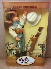 """Vintage Sweetie Teenie of the West Doll Bendy 5"""" Matchbox Suky Cowgirl 1981 MIP"""