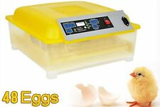 Egg Incubator Hatcher 48 Digital Clear Temperature Control Automatic Turning110V