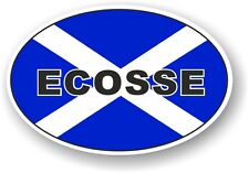 Scotland ECOSSE Oval Design With Scottish Saltire Flag vinyl car sticker decal