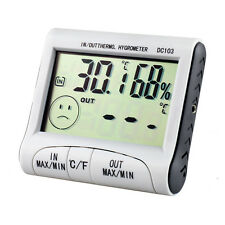 Digital LCD Thermometer Hygrometer Humidity Temperature Meter Indoor Outdoor Use
