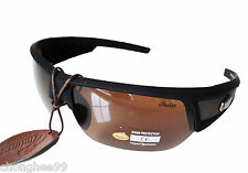New Indian Motorcycle Sunglasses Mens Women Brown Smoke Lens Plastic Wraparound