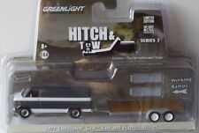 Greenlight 1:64 - 1977 CHEVROLET g20 Van and Flatbed Trailer-Hitch... OVP -