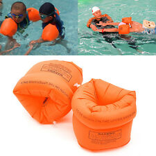 1 Pair Swimming Band Arm Ring Floating Inflatable Sleeves For Adult Child New