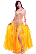 Profession Belly Dance Costume Outfit Set Bra Belt skirt Bollywood Carnival 3PCS