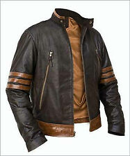 X-Men Wolverine Logans XO Replica Leather Jacket Vintage Biker Style BNWT