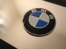 BMW Roundel Logo Front Vanity License Plate - Chrome Finish