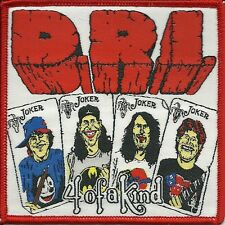 D.R.I.-4 OF A KIND- WOVEN PATCH-super rare