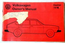 1976 VOLKSWAGEN DASHER OWNERS MANUAL ORIGINAL VW