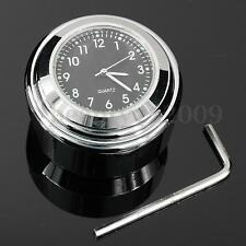 "7/8"" 1"" UNIVERSAL MOTORCYCLE HANDLEBAR MOUNT DIAL CLOCK FOR CHOPPER WATERPROOF"