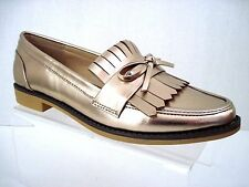 SOLE SOCIETY Metallic Rose Gold HUXLEY Kilty Loafer Size 6.5
