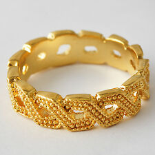 Top Finger Womens Mens Yellow Gold Filled Stackable infinity Band Ring Size 7