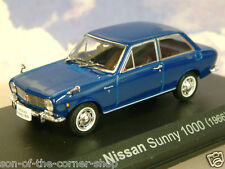 EXCELLENT NOREV 1/43 DIECAST 1966 NISSAN SUNNY 1000 IN NAVY BLUE 800235
