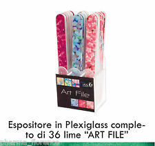 Miss Ky Espositore Plexiglass 36 Lime ART FILE Professional Nail by KyLua Italy