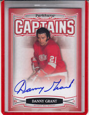 """2006-07 PARKHURST CAPTAINS  DANNY GRANT """"DETROIT RED WINGS""""#180  AUTOGRAPH AUTO"""