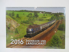 Eisenbahn und Landschaft 2016. Originalkalender von Eisenbahn Journal . Kalender
