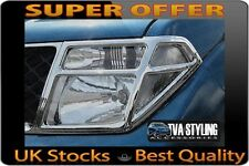 NISSAN NAVARA 2005-10 CHROME FRONT HEAD LIGHT COVERS TRIMS SURROUNDS TVA STYLING