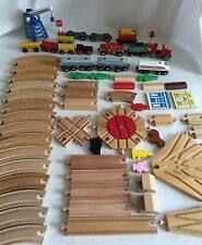 Wooden Train 66pc Lot Brio Ikea & More Thomas Compatible