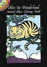 Alice in Wonderland Stained Glass Coloring Book by Marty Noble (1998, Paperback)