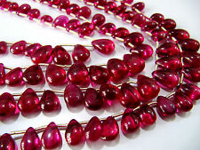 "AAA Quality Ruby Smooth Tear Drops Beads,Size 5x7-10x14mm 8""Strand,FREE SHIPPING"