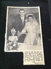 72-9 Ephemera 1957 Picture wedding Carmela Pastore Foglianise Barry Thorpe