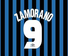 Zamorano 9 Inter Milan 1997-1998 Home Football Nameset for shirt