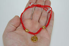 Gold Chinese Coin Fashion Rope String Bracelet Adjustable