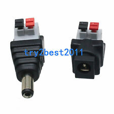DC Power Male Female 5.5X 2.1mm Connector Adapter Plug Cable Pressed for LED 12
