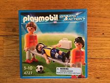 Playmobil 4727 Field Medics w/ Player on stretcher for Soccer Series New in Box!