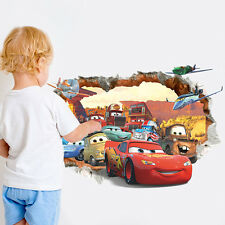 Disney Pixar Cartoon 3D Cars Removable Wall Sticker Lightning Kids Room Décor