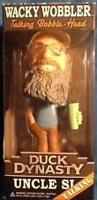 Duck Dynasty Uncle Si Wacky Wobbler Talking Bobble-Head Doll MINT Funko