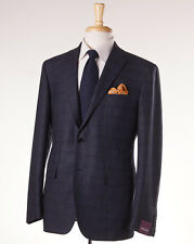 NWT $3495 SARTORIA PARTENOPEA Slim-Fit Glen Check Flannel Wool Suit 44 R