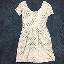 Urban Outfitters Pins and Needles Lace Polka Dot Cream Black Babydoll Dress Sz S