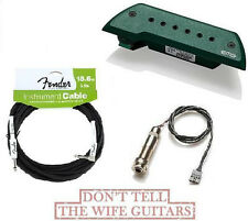 EMG ACS Green Acoustic Pickup ( FREE FENDER 18FT CABLE ) Bajo Sexto Or Quinto