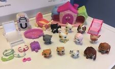 Lot of 12 Littlest Pet Shop ~ Cats & Dogs Kittens, Chihuahua And Accessories