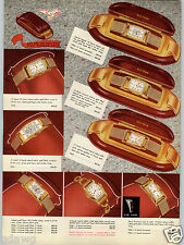 1938 PAPER AD 6 PG Waltham Wrist Watch COLOR Rectangle Face Doctor Sweep Second