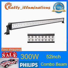 PHILIPS 52Inch 300W Led Off-road Light Bar Flood Spot Offroad Lamp Suv BOAT UTE