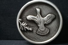 Solid Pewter Bird in Flight Pheasent Belt Buckle Sid Bell Pilgrim Pewter Co.